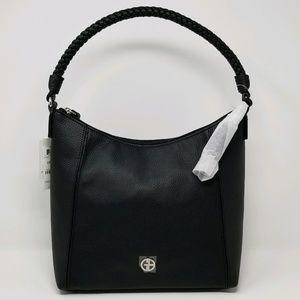 Giani Bernini Braid Handle Pebble Hobo (black)
